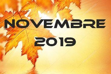 NOVEMBRE 2019 – Calendario Gare