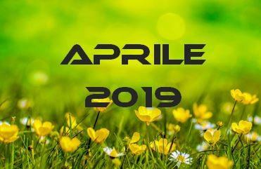 APRILE 2019 – Calendario Gare