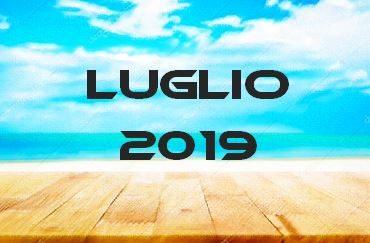 LUGLIO 2019 – Calendario gare