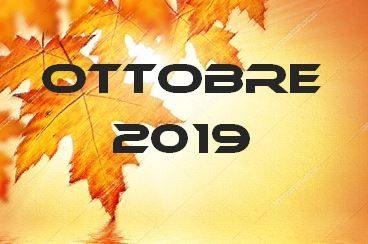 OTTOBRE 2019 – Calendario Gare