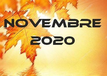 NOVEMBRE 2020 – Calendario gare