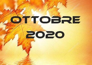 OTTOBRE 2020 – Calendario gare