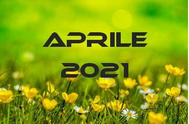 APRILE 2021 – Calendario Gare