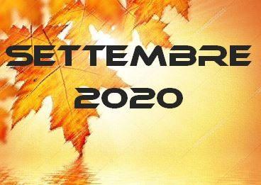 SETTEMBRE 2020 – Calendario gare