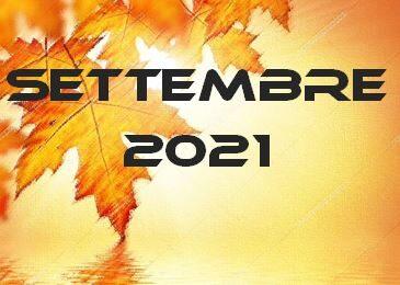SETTEMBRE 2021 – Calendario gare